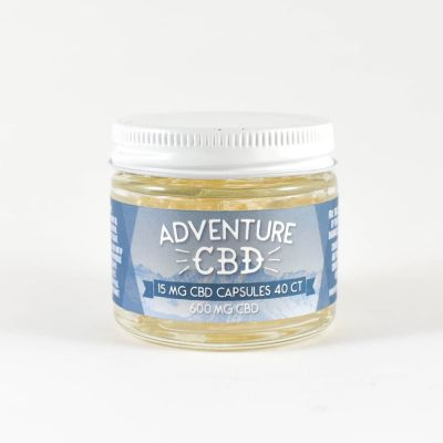 Adventure CBD :: Isolate - Capsules (600mg CBD, 40 count)
