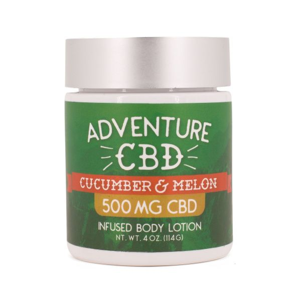 Adventure CBD :: Cucumber & Melon Infused Body Lotion (500mg CBD)