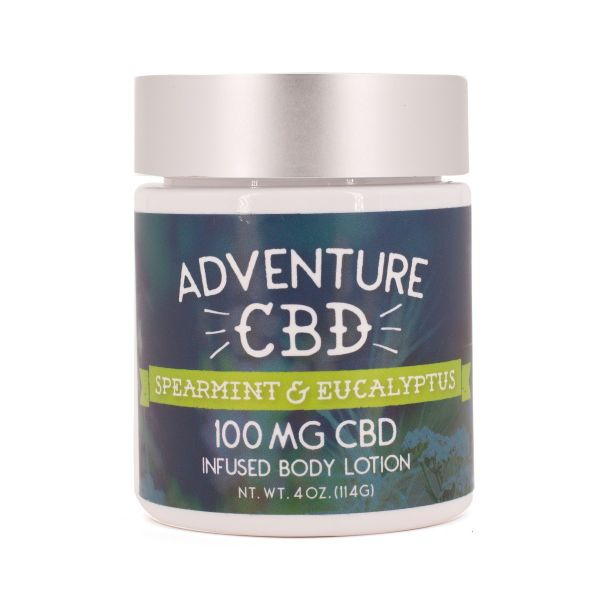 Adventure CBD :: Spearmint & Eucalyptus Infused Body Lotion (100mg CBD)