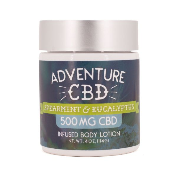 Adventure CBD :: Spearmint & Eucalyptus Infused Body Lotion (500mg CBD)