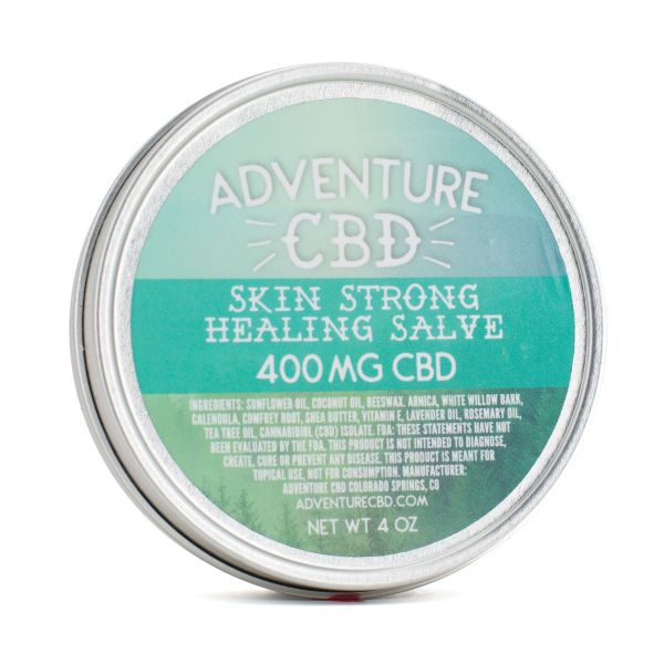 Adventure CBD :: Skin Strong Healing Salve - Rosemary & Tea Tree (400mg CBD)
