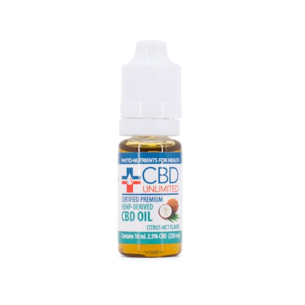 CBD Unlimited :: Coconut Citrus Tincture (10ml - 250mg)