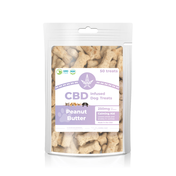 Cannavessel Labs :: CBD Infused Dog Treats - Peanut Butter (250mg, 50 count)