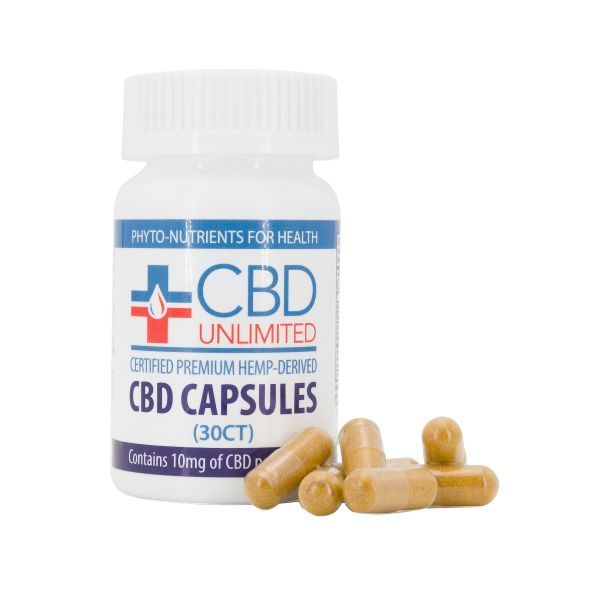 CBD Unlimited :: CBD Capsules (30 count - 10mg CBD per serving)