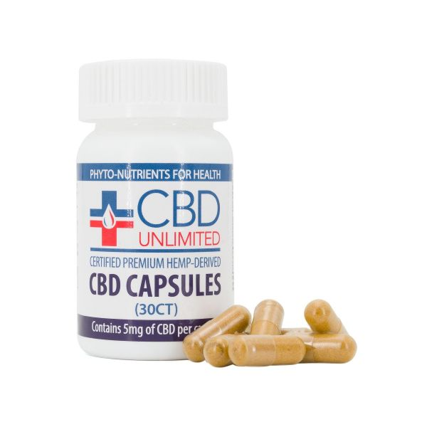 CBD Unlimited :: CBD Capsules (30 count - 5mg CBD per serving)