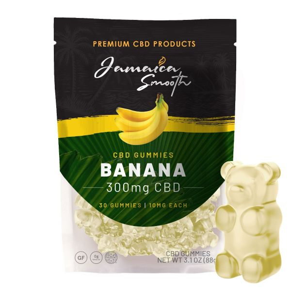Jamaica Smooth :: CBD Gummies - Banana (30 count, 300mg)