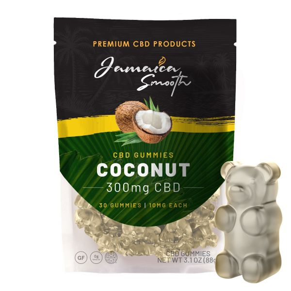 Jamaica Smooth :: CBD Gummies - Coconut (30 count, 300mg)