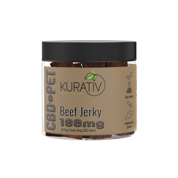 Kurativ :: CBD Pet Treats - Beef (100mg, 20 count)