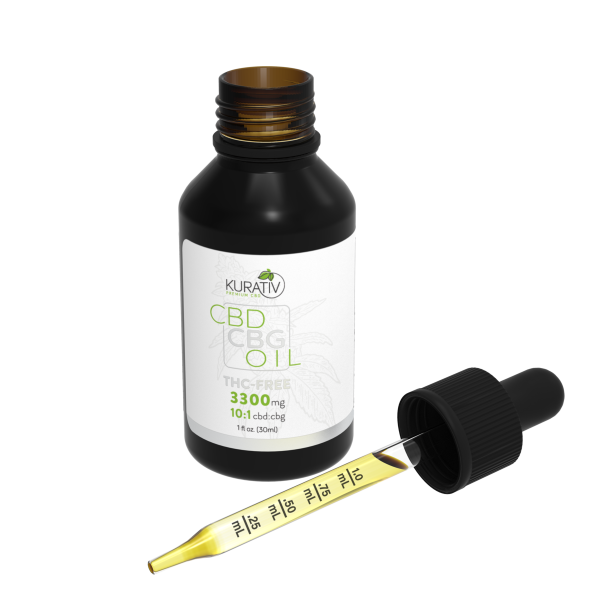 Kurativ :: CBD/CBG Oil :: THC Free (30ml - 3300mg)