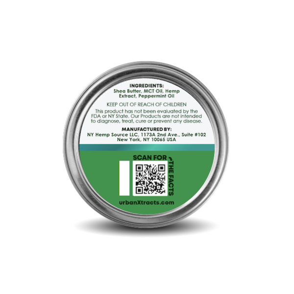 urbanXtracts :: Peppermint Soothing Balm (500mg CBD)