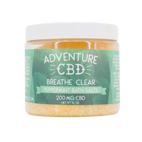 Adventure CBD :: Peppermint Bath Salt (16oz, 200mg CBD)