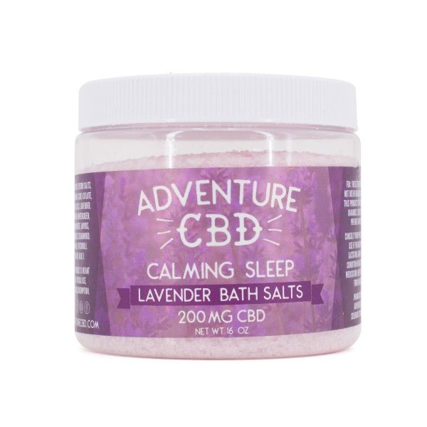 Adventure CBD :: Lavender Bath Salt (16oz, 200mg CBD)